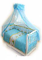 Детский постельный комплект Twins Comfort С-011 Медуны, голубой