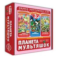 Игра настольная бродилка + пазл + кубики 3 в 1
