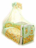 Детский постельный комплект Twins Comfort С-012 Пушистые мишки, зеленый