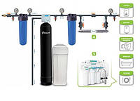 Комплект фильтров для коттеджа с 2-3 санузлами (жесткость, железо, запах, марганец, органика и др.)