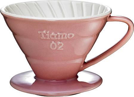 Пуровер Ceramic Pink Filter V02 Tiamo