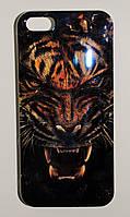 Чехол на Айфон 5/5s/SE Силикон перламутр Тигр, фото 1