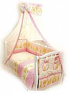 Детский постельный комплект Twins Comfort С-016 Мишки со звездами, розовый