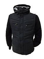 Куртка мужская теплая демисезонная с капюшоном