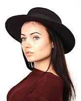 Осенняя шляпа канотье черная, фото 2