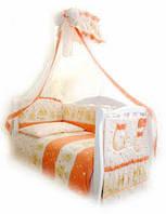 Детский постельный комплект Twins Comfort С-018 Мишки со звездами, теракот