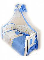 Детский постельный комплект Twins Comfort С-020 Горошки, голубой