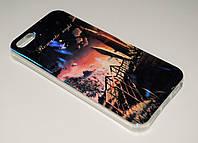 Чехол на Айфон 5/5s/SE Силикон перламутр Фантастический вид, фото 1