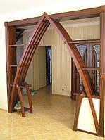 Элементы интерьера, арки, колоны, нестандартные конструкции, двери деревянные.