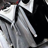 Женский удлиненный вязаный свитер ViV-275