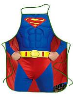 """Чоловічий фартух з приколом """"Supermen""""."""