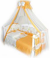 Детский постельный комплект Twins Comfort С-021 Горошки, оранжевый
