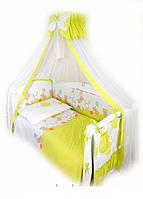 Детский постельный комплект Twins Comfort С-022 Горошки, зеленый