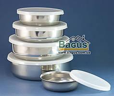 Набор судочков из нержавеющей стали (5 шт./наб.) с пластиковыми крышками Besser (SS-0589)