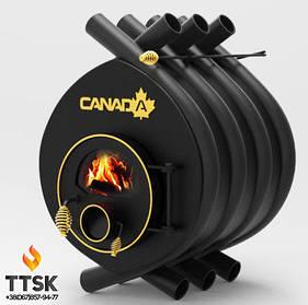 Дровяная печь калориферная «Canada» classic «ОO» со стеклом