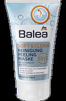 Гель для умывания и очистки кожи лица Balea Waschgel Soft & Clear 3in1 Reinigung Peeling Maske 150 мл