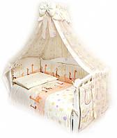 Детский постельный комплект Twins Comfort С-024 Жирафы, бежевый