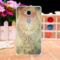Силиконовый чехол бампер для Huawei GR5 Honor 5X с картинкой Филин