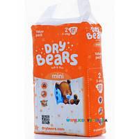 Подгузники Dry Bears Soft&thin Mini 2 (3-6 кг) 52 шт