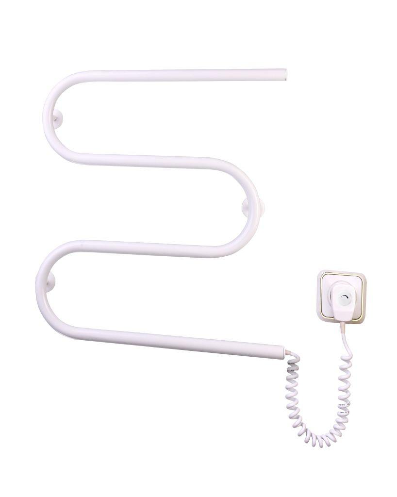 Электрич.полотенцесушитель Змейка-М (550*500*70) 50 Вт белый