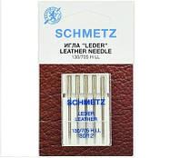 """Иглы Schmetz """"Leather"""" № 80 для кожи с режущим острием"""