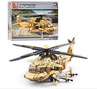 """Конструктор Sluban """"Военный вертолет"""" M38-B0509 , 439 дет"""