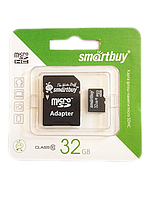 Карта памяти Micro SD 32GB class10 Smartbuy