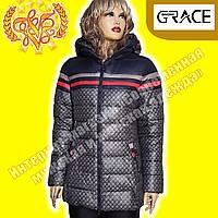 Женские пуховики Snow Grace 395 gray