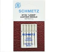 """Иглы Schmetz """"Leather"""" № 90 для кожи с режущим острием"""