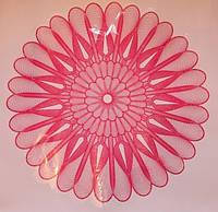 Салфетка цветочная 60 см. прозрачная.+рис.