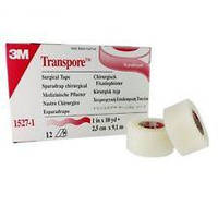Пластырь на основе прозрачного перфорированного пластика 3M Micropore Transpore 2,5 см х 9,1 м, арт.1527-1