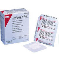 Адгезивная повязка для ран 3M Медипор+Пад (Medipore+Pad) 10 x 10 см, арт. 3566