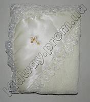 Крестильное полотенце (крыжма на махре) с уголком молочное, Lari