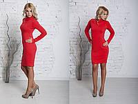 Короткое красное платье ангора