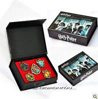 Коллекционные значки Гарри Поттера (герб Гриффиндора) 5 шт в коробке, фото 1