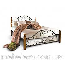 Кровать полуторная Джоконда на деревянных ногах 140 Металл-дизайн  , фото 2