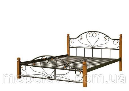 Кровать двуспальная Джоконда на деревянных ногах 180 Металл-дизайн  , фото 2