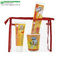 Детский набор по уходу за зубами EMOFORM® actifluor KIDS Set, Wild-Pharma