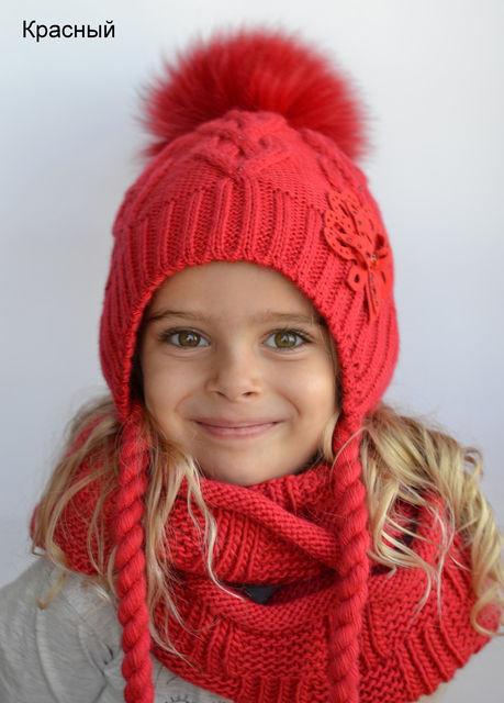 Зимова шапка Орхідея для дівчаток  продажа c74465440feb6