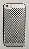 Чехол на Айфон 5/5s/SE Soft Touch Loopee мягкий Пластик Серебро, фото 1