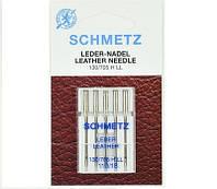 """Иглы Schmetz """"Leather"""" № 110 для кожи с режущим острием"""