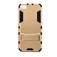 Ударопрочный чехол-подставка Transformer для Xiaomi MI5 / MI5 Pro с мощной защитой корпуса             Золотой / Champagne Gold