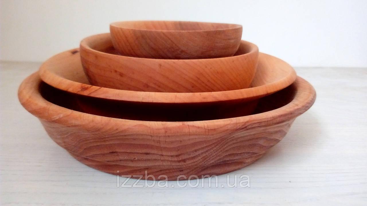 Посуда из дерева. Набор посуды из ольхи