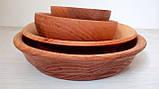 Посуда из дерева. Набор посуды из ольхи, фото 2