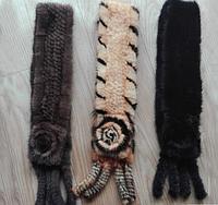Шарфы из натурального меха норки. Женский норковый шарфик.