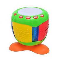Уроки тетушки Совы игрушка Умный барабан 80026: музыка, свет, 3хАА, 20х20 см, 2+ лет
