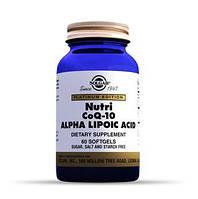 Нутрикоэнзим Q-10 с альфа-липоевой кислотой (Nutri-Nano CoQ-10 Alpha Lipoic Acid) Солгар №60