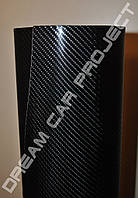 Виниловая пленка, черный карбон под лаком 4D