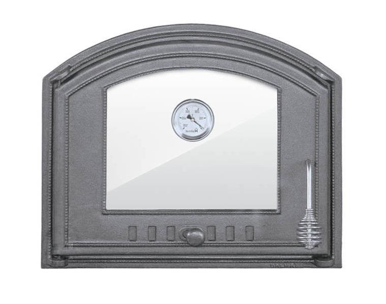 Дверка для хлебной печи со стеклом и термометром (48,5х41 см/43,5х36,5 см)