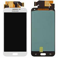 Дисплей (экран) для Samsung E500H/DS Galaxy E5 + с сенсором (тачскрином) Оригинал белый